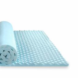 1.5/2/3/4 Inch Gel Memory Foam Mattress Topper Sleep Bed Pad