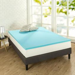 Zinus 1.5 Inch Gel Memory Foam Mattress Topper, Twin