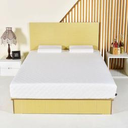"10"" inch Queen Memory Foam Mattress Pad Bed Topper with 2 Co"