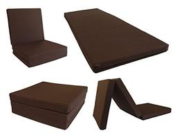 NOVObasics 1007 Tri Fold a Bed Mattress Topper, Adult, Brown
