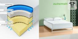 Zinus 12 Inch Gel-Infused Green Tea Memory Foam Mattress, Qu
