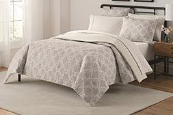 Simmons 16378BEDDKNGTAU Fremont Bedding and Sheet Set, Taupe