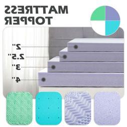 2''2.5''3''4'' Comfort Bed Mattress Memory Foam Topper Pads