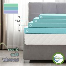 2''/3''/4''Comfort Gel Memory Foam Mattress Topper-Twin Full