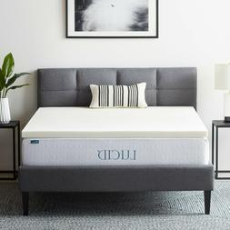 LUCID  2, 3, and 4 inch Ventilated Memory Foam Mattress Topp