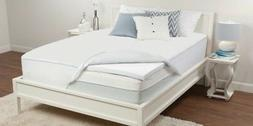 "Sealy 2"" 3 lb Density Premium Memory Foam Bed Topper w/ Remo"