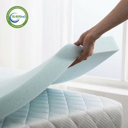 2.5/3 Inch Memory Foam Mattress Topper Lavender Gel Bed Full