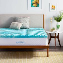 Linenspa 2 and 3 Inch Gel Convolution Memory Foam Mattress T
