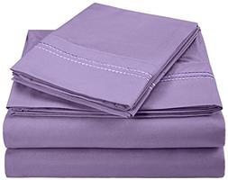 Superior 2-Line Bubble Embroidered Sheets, Luxurious Silky S