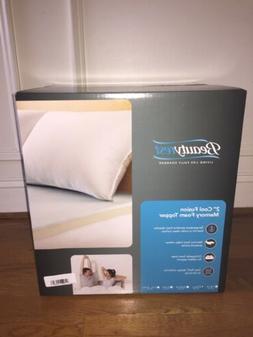 """Beautyrest 2"""" Cool Fusion Memory Foam mattress Topper - Full"""