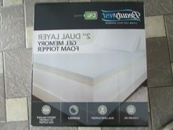 "BeautyRest 2"" Dual Layer Gel Memory Foam Mattress Topper Rev"