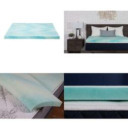 "Dreamfoam Bedding 2"" Gel Swirl Memory Foam Topper, Made In U"