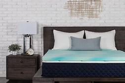 Dreamfoam Bedding 2 Gel Swirl Memory Foam Topper Made In USA