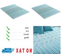 2 Inch Cooling Gel Memory Foam Mattress Topper Pad Bed Cushi