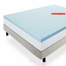 LUCID 2 Inch Gel Infused High Density Ventilated Memory Foam