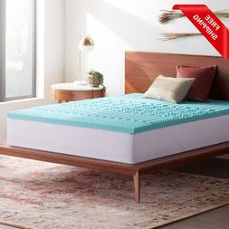 2 Inch Gel Memory Foam Mattress Topper 5 Body Zone Comfort B