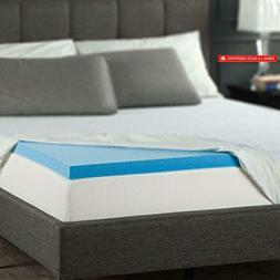 Zinus 2 Inch Gel Memory Foam Mattress Topper, Full