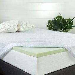 Zinus 2 Inch Green Tea Memory Foam Mattress Topper Queen KIn