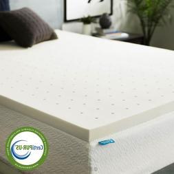 LUCID 2 inch Responsive Memory Foam Mattress Topper - Twin F