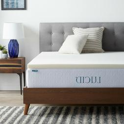 LUCID 2 Inch Traditional Ventilated Foam Mattress Topper - B