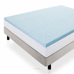 LUCID 2 inch Ventilated Gel Memory Foam Mattress Topper - Tw