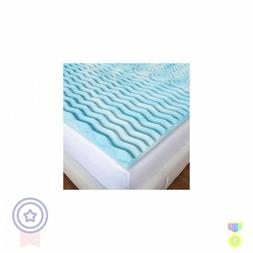 "Queen Size Memory Foam Bed Mattress Topper 2"" Inch Cooling C"