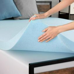 3'' 4'' Cooling Gel Infused Memory Foam Mattress Topper Soft