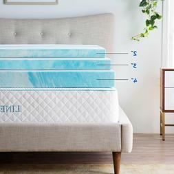 Linenspa 2, 3, 4 inch Soft Plush Swirl Gel Memory Foam Toppe