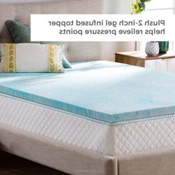 2 Inch Calming Gel Swirl Memory Foam Mattress Topper  - Twin
