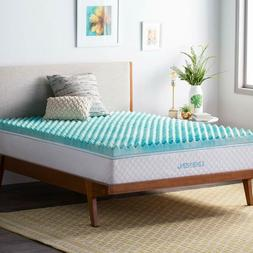 Linenspa 3 Inch Convoluted Gel Swirl Memory Foam Mattress To