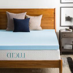 LUCID 3 Inch Cooling Gel Memory Foam Mattress Topper - Twin