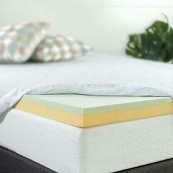 Zinus 3 Inch Green Tea Memory Foam Mattress Topper, Full