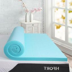 HIFORT 3 Inch Memory Foam Mattress Pad Bed Topper Queen Full