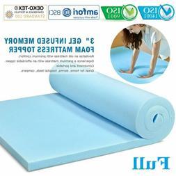 3'' Inch Orthopedic Gel Memory Foam Ventilated Design Mattre
