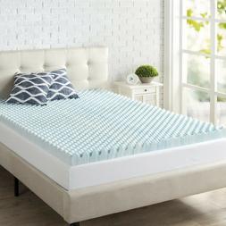 3 Inch Swirl Gel Memory Foam Mattress Topper Air Flow Coolin