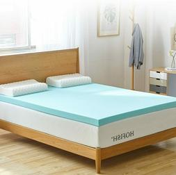 HOFISH 3 Inches Gel Infused Memory Foam Mattress Topper-Quee