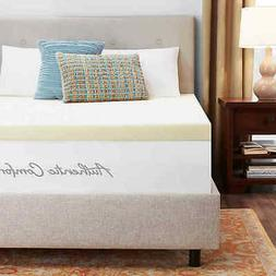 """Authentic Comfort 3"""" Memory Foam Mattress Topper - Size:Quee"""