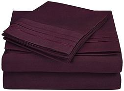 Superior 3-Line Embroidered Sheets, Luxurious Silky Soft, Li