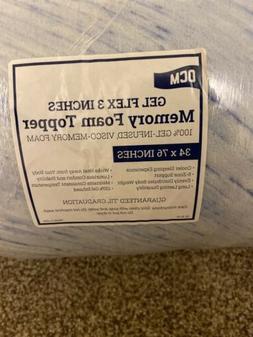 """OCM 3"""" Ultimate Gel Flex Memory Foam Mattress Topper Pad Twi"""