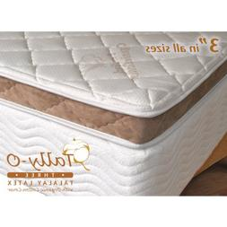 3 Inch Pure 32 ILD Talalay Latex Foam Mattress Pad with Orga