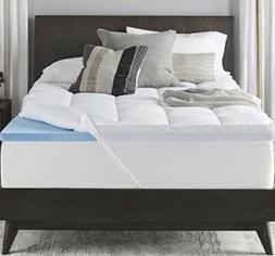 4 dual layer memory foam mattress topper