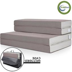 "4"" Folding Portable Matress Washable Cover High Density Foam"