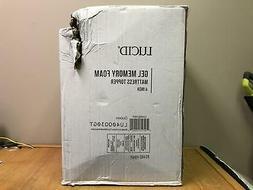 LUCID 4 Inch Gel Memory Foam Mattress Topper, Queen