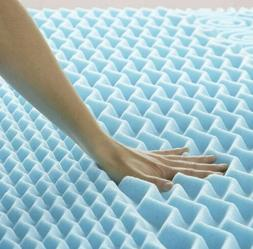 Lucid 2 Inch 5 Zone Gel Memory Foam Mattress Topper - Twin
