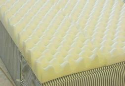 72 L x 34 W x 3 Inch Soft Foam Twin Bed Pad Mattress Egg Cra