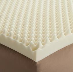 72 L x 34 W x4 Inch Soft Foam Twin Bed Pad Mattress Egg Crat