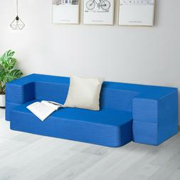 SLEEPLACE 8 Inch Memory Foam Mattress and Floor Sofa Topper