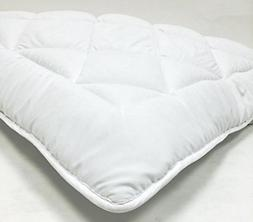 "Fully Reversible -1"" Down Alternative Mattress Topper / Pad-"