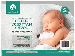 Green Frog, 2 PACK Fitted Padded Crib Mattress Sheet   Fits