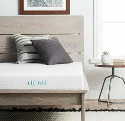LUCID 5 Inch Gel Memory Foam Mattress - Dual-Layered - Certi